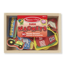 Drevené magnetky Farma - Melissa & Doug