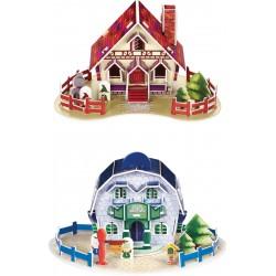 Detský farebný model - Domčeky 4 kusy