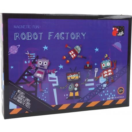 Detská magnetická skladačka - Roboty