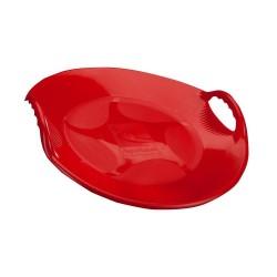 Snežný klzák s úchytkami - červený