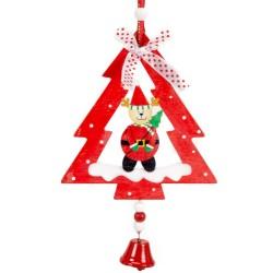 Ozdoba na vianočný stromček z dreva - jeleň so stromčekom