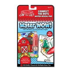 Magická omaľovánka – Spájaj body s číslicami -  Water WOW - Melissa & Doug