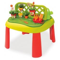 Detský stôl Záhradník De Jardinage 2v1 Smoby s plotom a 15 doplnkami od 2 rokov