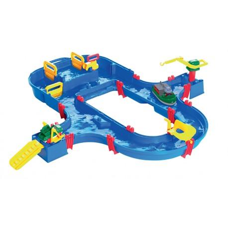 Detská vodná dráha AquaPlay SuperSet s hrošíkom Wilmou a priehradou s vodnou pumpou