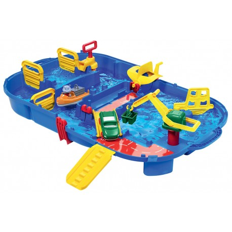 Vodná dráha pre deti AquaPlay Lock Box v kufríku s hrošíkom Wilmou a priehradou s vodnou pumpou od 3 rokov