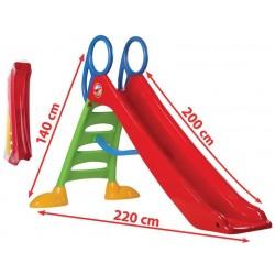 DOREX Detská šmýkačka - červená