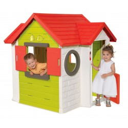 Záhradný domček pre deti Smoby My House s 2 dverami, elektronickým zvončekom a UV filtrom od 2 rokov