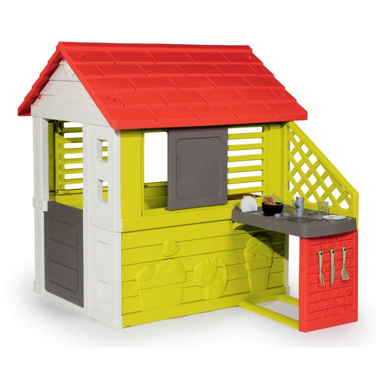 099b320573533 ... Záhradný domček pre deti Smoby Pretty Nature Smoby s letnou kuchynkou a  zasúvacou okenicou s UV ...