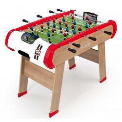 Drevený futbalový stôl Powerplay 4v1 Smoby - stolný futbal, biliard, hokej a tenis