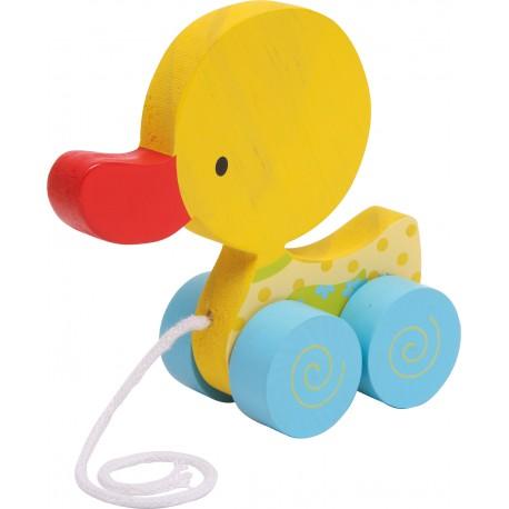 Legler Drevená hračka na ťahanie - Kačička Lu - žltá