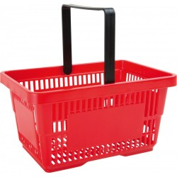 Detský košík na nákupy plastový - červený