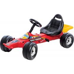 DOHÁNY detská štvorkolka Go Kart auto na šliapanie - červené