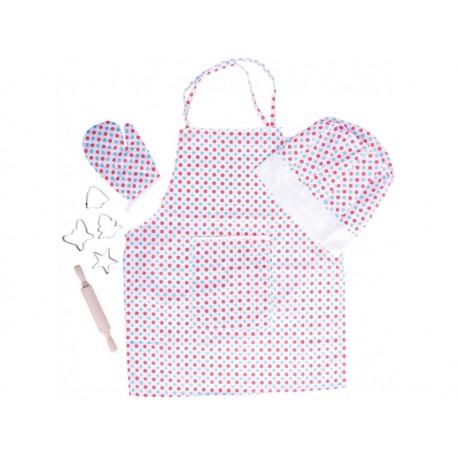Detská 8-dielna sada oblečenia pre kuchára - bodkovaná