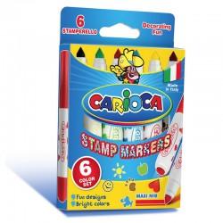CARIOCA farebné pečiatkové fixky 6 ks