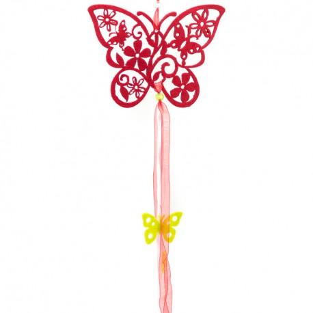 Závesná dekorácia z filcu - motýľ