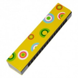 Ústna harmonika - žltá s krúžkami