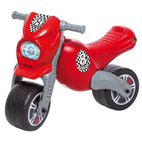 Detské odrážadlo Cross 8 motorka - červená