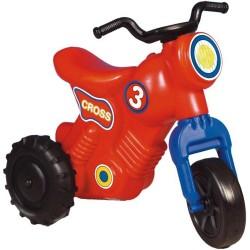 Detské odrážadlo Cross 3 motorka - červená