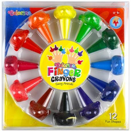 Colorino Kids farebné prstové voskovky 12 ks