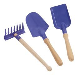 Detské záhradné náradie - 20 cm modré  - set