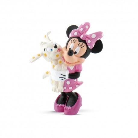 Bullyland Mickey Mouse Clubhouse - Minnie Mouse so svojim maznáčikom rozprávková figúrka