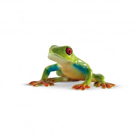 Bullyland žabka - listovnica červeno-oká figúrka