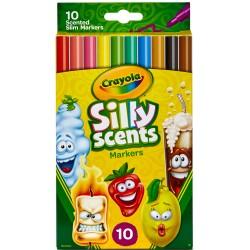 Crayola - tenké umývateľné voňavé fixky 10 ks