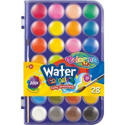 Colorino Kids vodové farby - 28 farieb s Ø 27 mm
