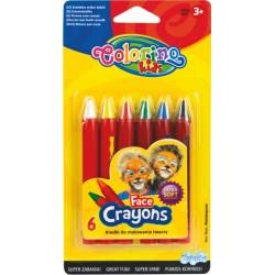 Colorino Kids pastelky na maľovanie tváre - 6 farieb