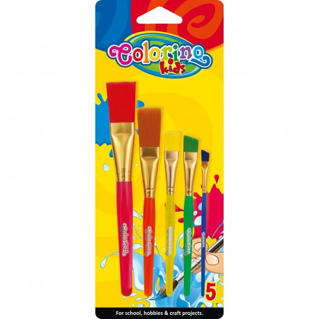 Colorino Kids štetce na maľovanie 5 ks JUMBO