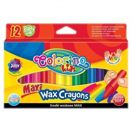 Colorino Kids farebné voskovky 12 ks MAXI
