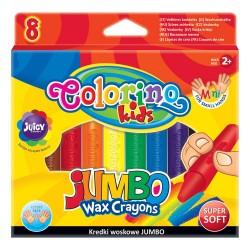 Colorino Kids farebné voskovky Jumbo 8 ks