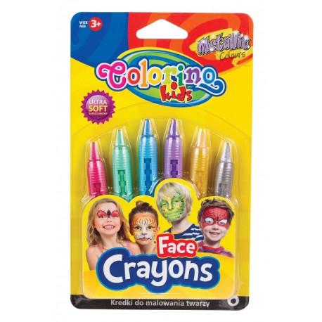 Colorino Kids pastelky na maľovanie tváre - metalické