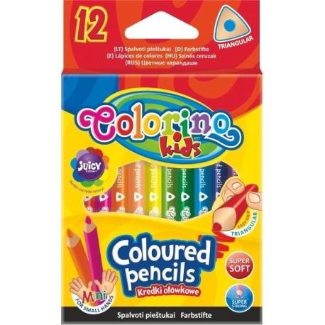 Colorino Kids farebné ceruzky 12 ks krátke