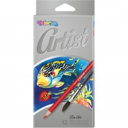 Colorino Artist Aquarell farebné ceruzky + štetec