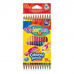 Colorino Kids farebné ceruzky 12 ks/24 farieb tenké