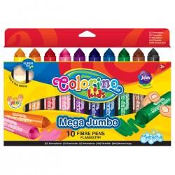 Colorino farebné fixky JUMBO Mega 10 farieb