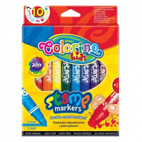 Colorino farebné pečiatkové fixky obojstranné 10 farieb