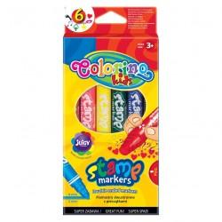 Colorino farebné pečiatkové fixky obojstranné 6 farieb