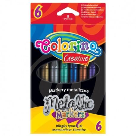 Colorino Farebné metalické fixky 6 ks-ové