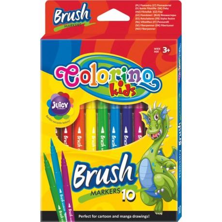 Colorino Farebné fixky so štetcovým hrotom 10 farieb