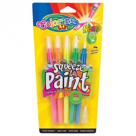 Colorino Farebné fixky so štetcovým hrotom Neon 5 ks-ové