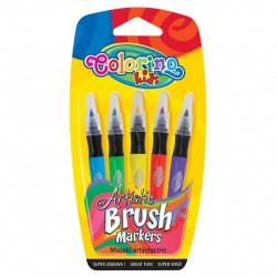 Colorino Farebné fixky so štetcovým hrotom 5 farieb
