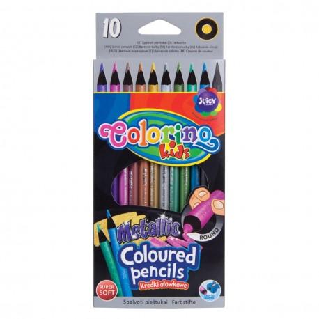 Colorino Kids farebné ceruzky 10 ks metalízované