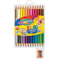Colorino Kids farebné ceruzky so strúhatkom 12 kusov/24 farieb