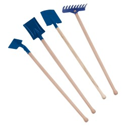 Detské záhradné náradie - 70 cm modré  - set