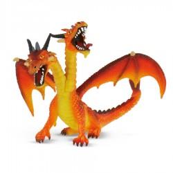 Bullyland figúrka na hranie - drak dvojhlavý oranžový