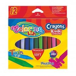 Colorino Kids farebné voskovky 12 ks