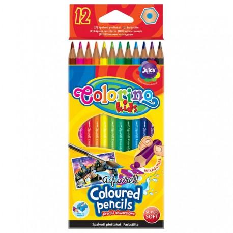 Colorino Kids farebné ceruzky 12 ks Aquarell