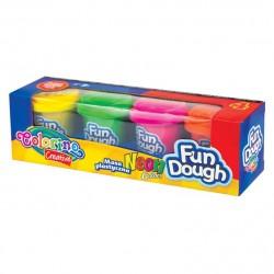 Colorino Kids farebná plastelína 4 farby Neon